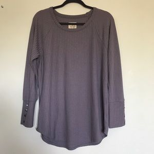 Chaser Ladies Waffle Thermal Long Sleeve Top XXL